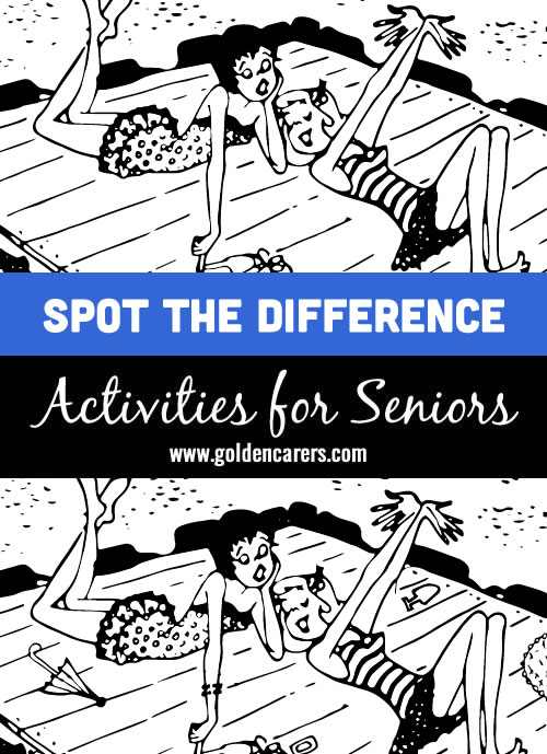 Ladies by the Water: Another fun spot the differences activity for seniors!