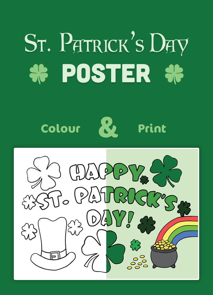 Here is a St. Patrick's Day poster for decorating.
