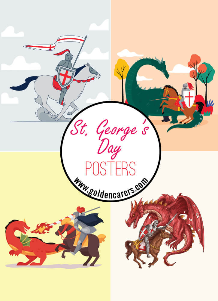 Posters for celebrating St. George's Day!