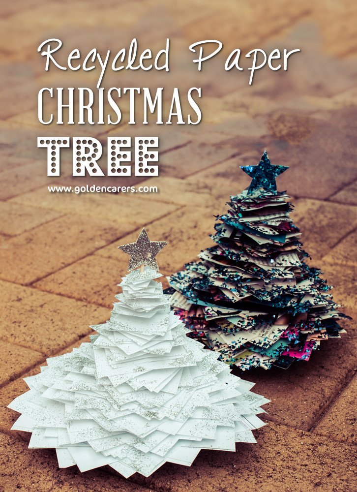 recycled paper christmas trees