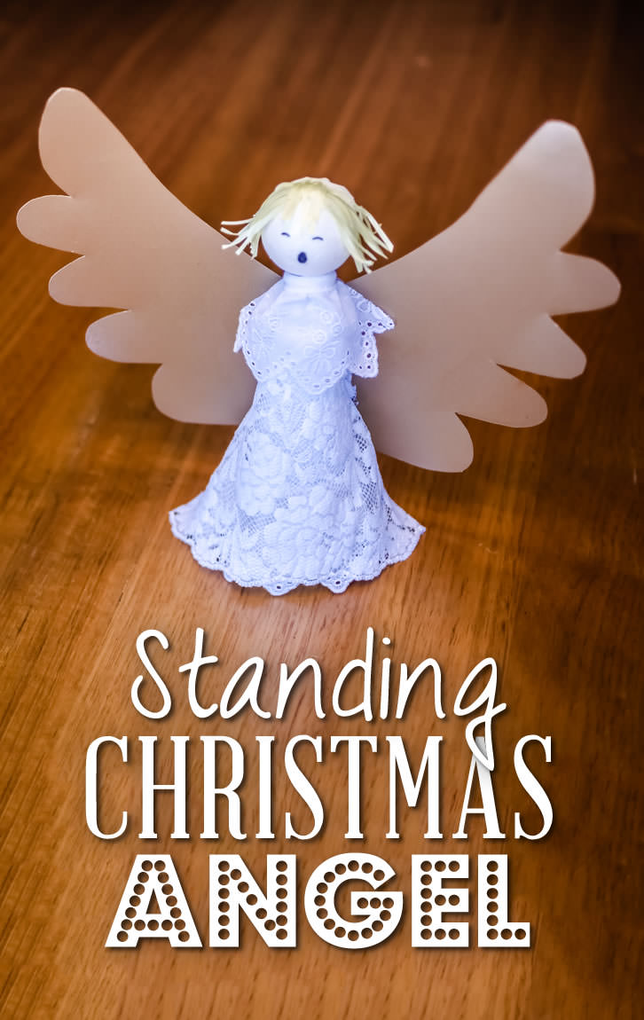 here is a lovely christmas craft activity create beautiful standing christmas angels - A Christmas Angel