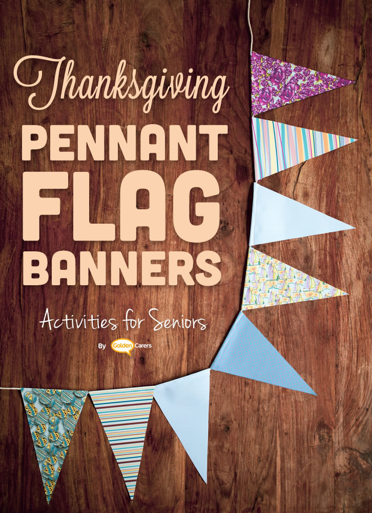 Make your own colorful bunting to decorate for Thanksgiving!