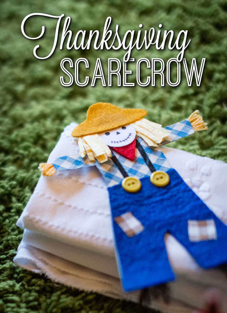 Create these lovely felt scarecrows in an arts & crafts session!