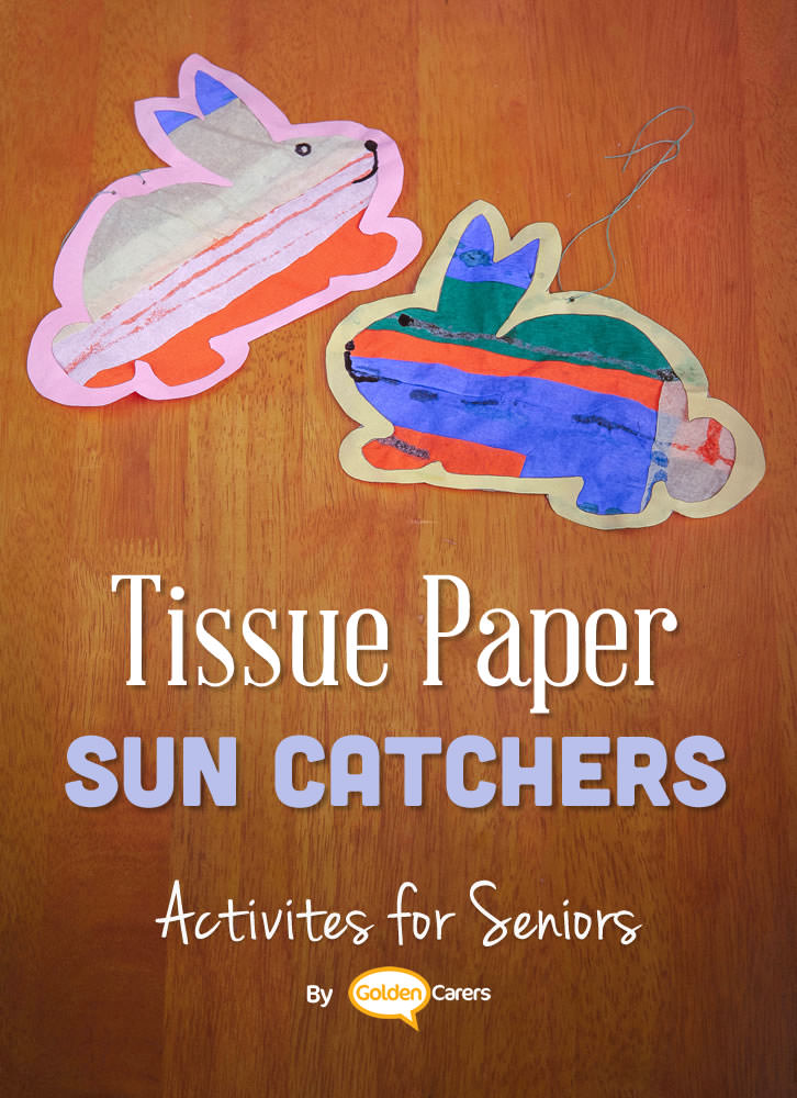 Making mobiles or sun catchers are activities that low care residents can do for frail people in Nursing Homes. Mobiles and sun catchers can act as a visual stimulation to those no longer able to participate in activities.