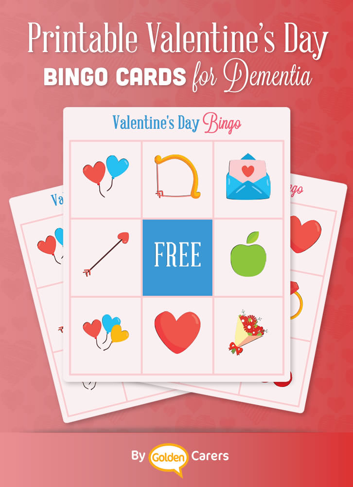 An easier Valentine's bingo game for residents living with dementia!