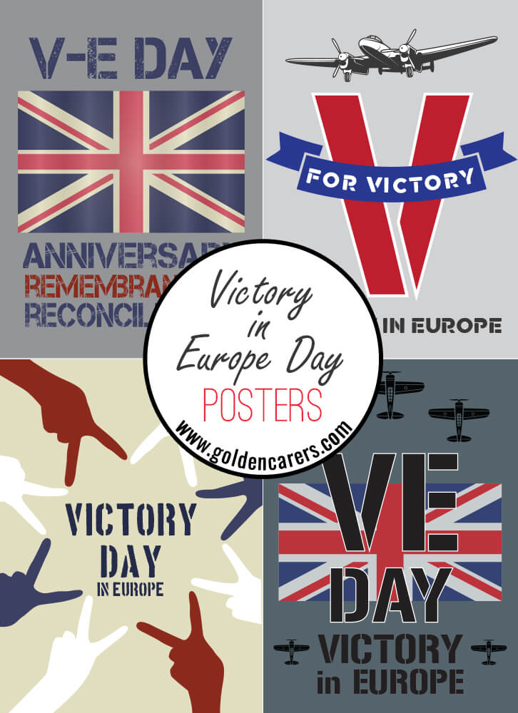 VE Day Posters - Victory in Europe