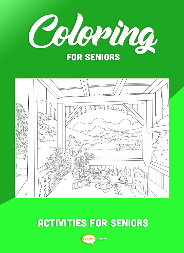A color by number Veranda With View activity to enjoy! Use the key provided to color each number and discover the completed image.