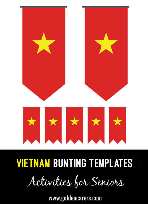 Vietnam Bunting templates for a Vietnamese party!