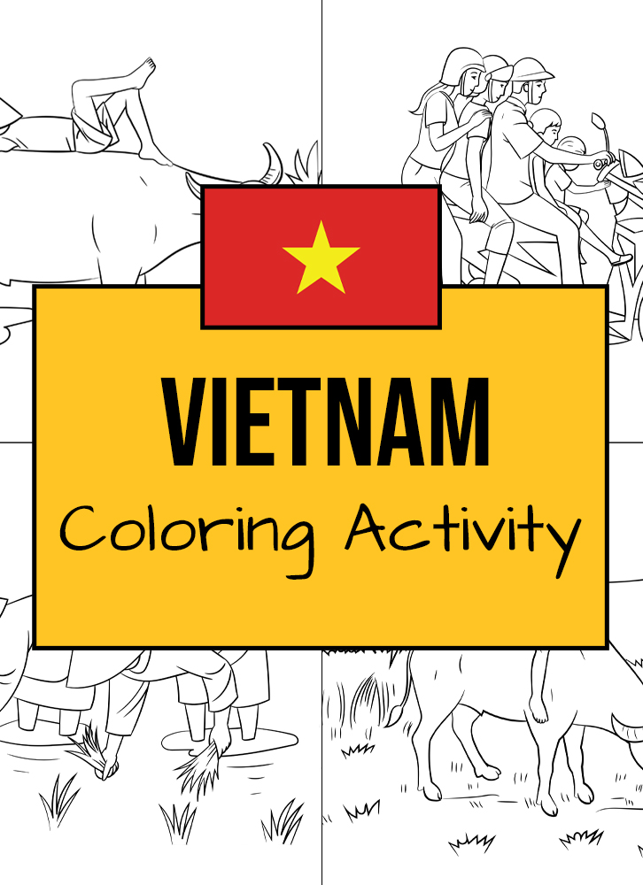 Here are some Vietnamese-themed coloring templates to enjoy!