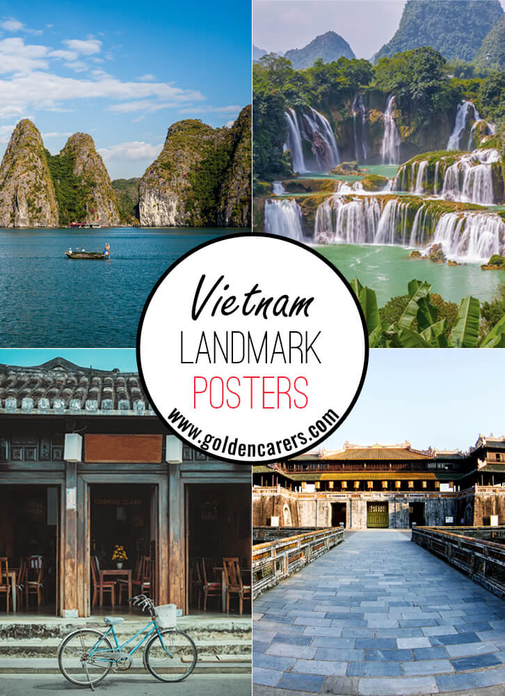 Posters of famous landmarks in Vietnam!