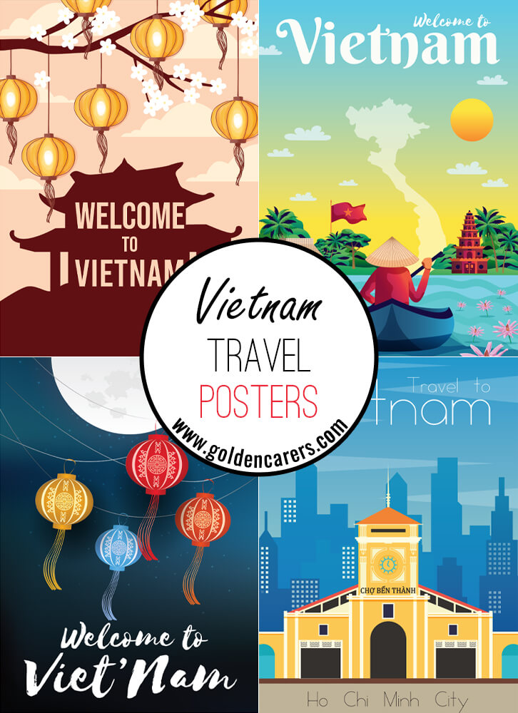 Posters of famous tourist destinations in Vietnam!