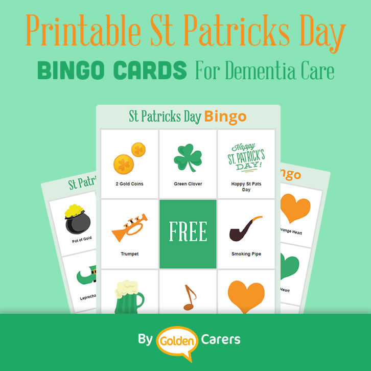graphic relating to St Patrick's Day Bingo Printable named St Patricks Working day Bingo for Dementia