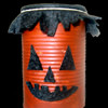 Recyclable Jack-o-Lantern Cans
