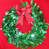 Recycled Newspaper Christmas Wreath