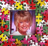 Recycled Puzzle Photo Frame