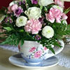 Cup and saucer table decorations
