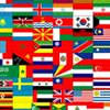 International Flags on Fabric