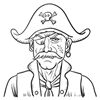 Colouring-in for Pirate Day