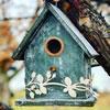 Sanding & Painting Birdhouses