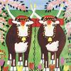 Artist Impression - Maud Lewis - Oxen In Spring