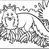 Mosaic coloring activities-Fox
