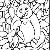Mosaic Coloring Activities - Panda