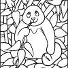 Mosaic Coloring Activities - Panda