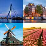 The Netherlands Landmark Posters