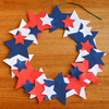 Wreath Decoration for US Independence Day