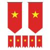 Vietnam Bunting Templates