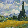 Artist Impression - Vincent Van Gogh - Wheat Field With Cypresses